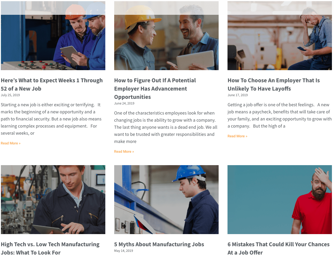 manufacturing blog page
