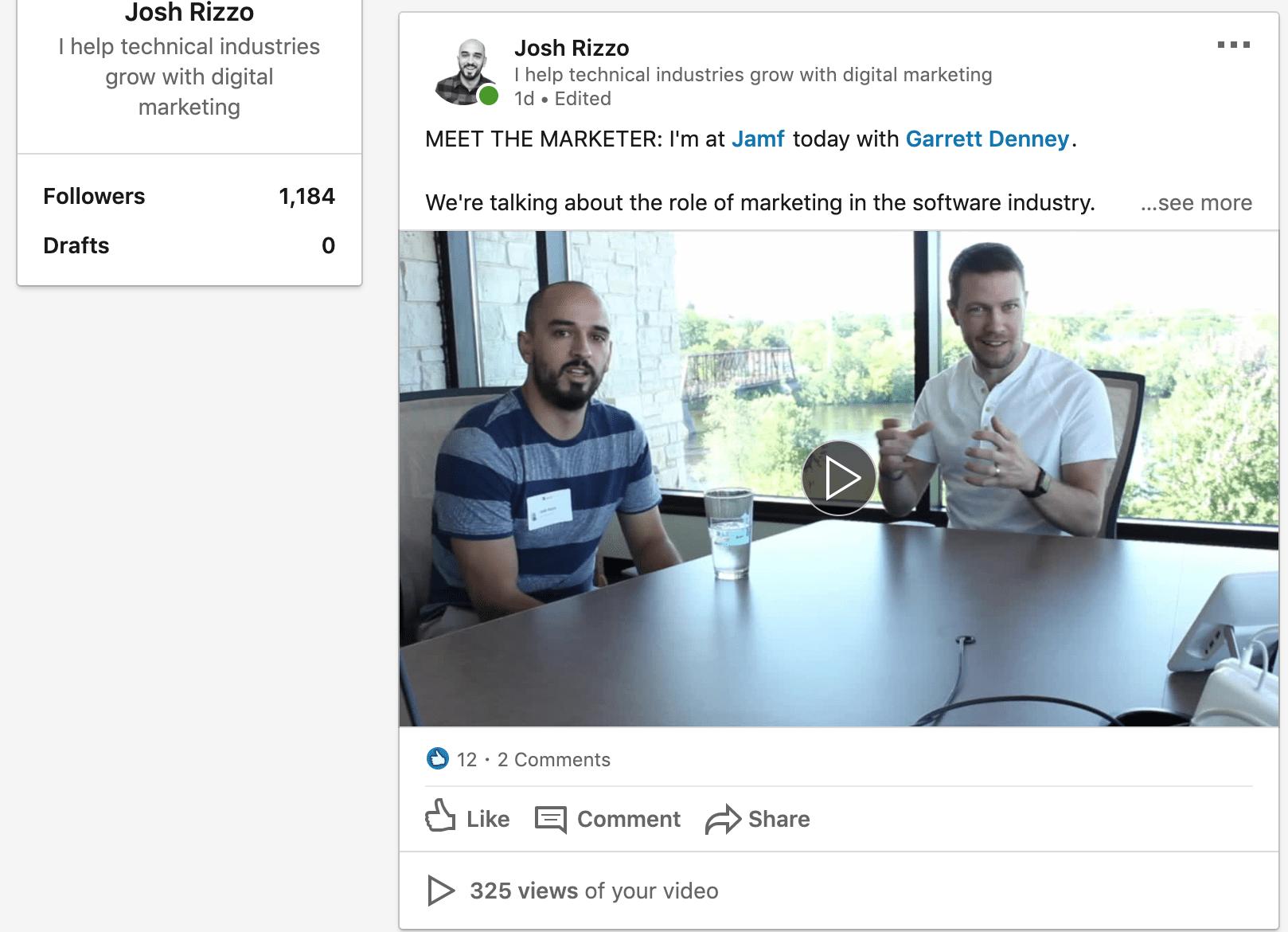 publishing video posts on linkedin