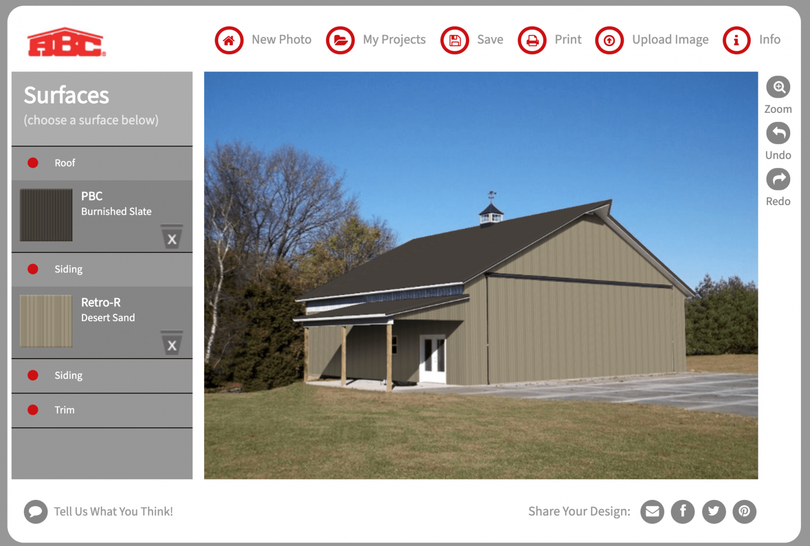 ABC Metal Roofing color visualizer