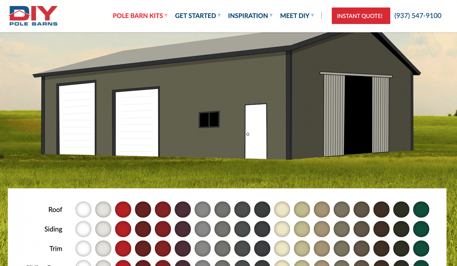 DIY Pole Barns color visualizer